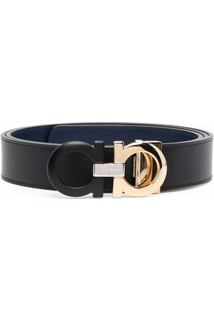 Salvatore Ferragamo Men Belts - Double Gancini leather belt
