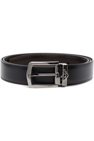 Salvatore Ferragamo Men Belts - Reversible leather belt
