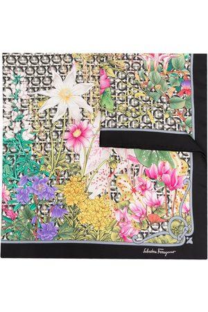 Salvatore Ferragamo Women Scarves - Floral-print silk scarf - Neutrals
