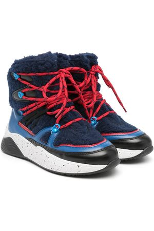 Stella McCartney Boys Outdoor Shoes - Colblock lace-up hiking boots