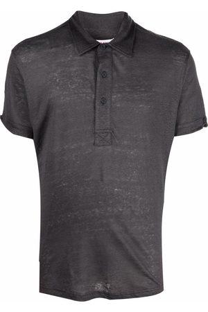 Orlebar Brown Polo Shirts - Linen polo shirt - Grey