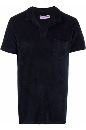 Orlebar Brown Textured cotton polo shirt