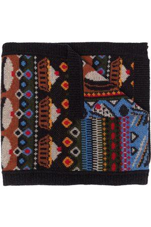 HENRIK VIBSKOV Scarves - Bellagamba intarsia-knit scarf - Grey