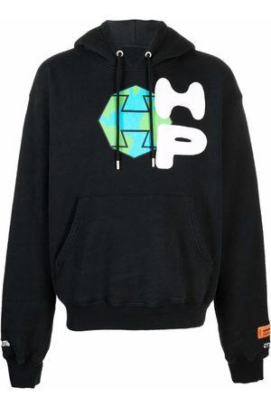 Heron Preston Graphic-print drawstring hoodie