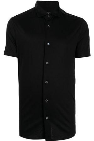 Emporio Armani Men Short sleeves - Logo-plaque short-sleeve shirt
