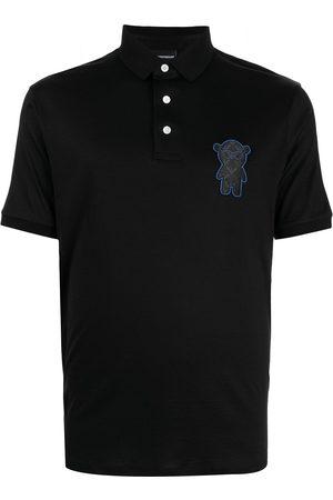Emporio Armani Men Polo Shirts - Appliqué-logo polo shirt