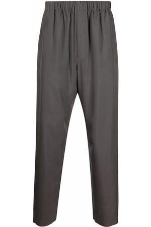 LEMAIRE Women Straight Leg Pants - Straight leg silk trousers - Grey