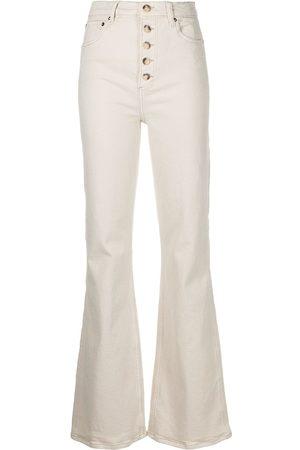 Boyish Jeans Women High Waisted - High-rise flared jeans - Neutrals