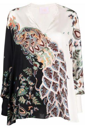 IVI Women Tunics - Majestic stretch-silk tunic - Neutrals