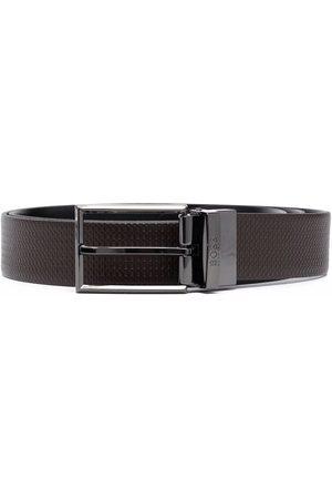 HUGO BOSS Men Belts - Engraved logo-buckle belt