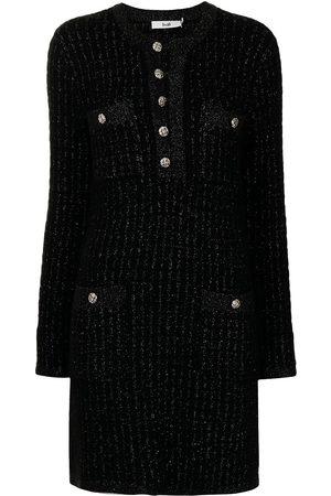 B+AB Women Casual Dresses - Accent-button jersey-knit dress