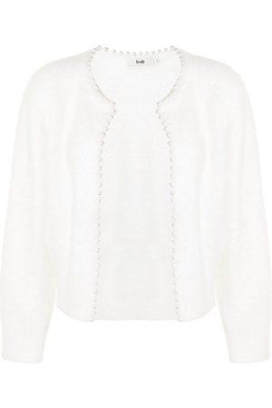 B+AB Women Cardigans - Faux-pearl trimmed cardigan