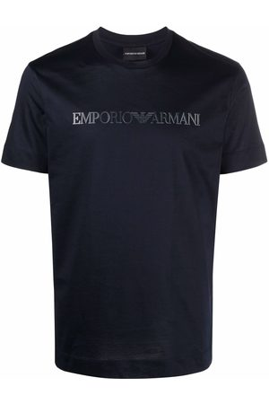Emporio Armani Men Short Sleeve - Logo-print short-sleeved T-shirt