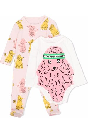 Stella McCartney Bodysuits & All-In-Ones - Poodle-print babygrow and body set