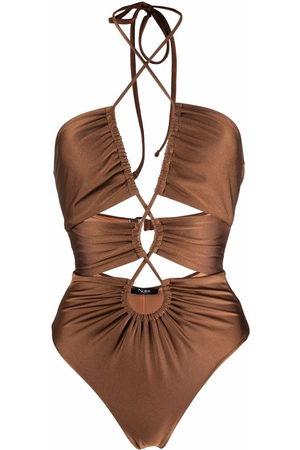 Noire Swimwear Women Monokinis - Gathered cut-out swimsuit