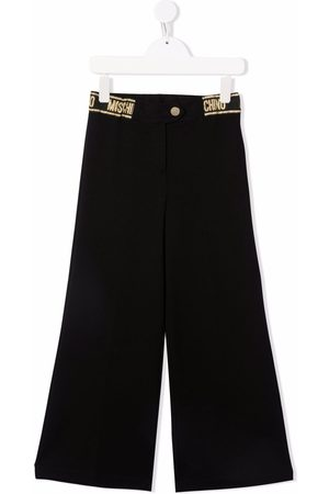 Moschino Boys Straight Leg Pants - Logo-waistband straight trousers