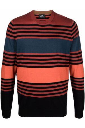 Paul Smith Men Sweatshirts - Colour-block striped jumper