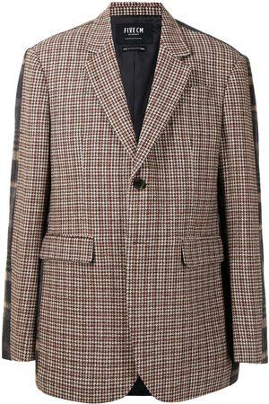 FIVE CM Men Blazers - Two-tone contrast check blazer