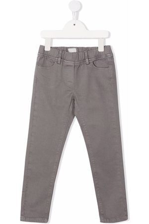 Il gufo Girls Skinny Pants - Gabardine skinny trousers - Grey