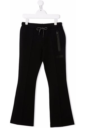 Il gufo Girls Wide Leg Pants - Bonded cropped flared trousers
