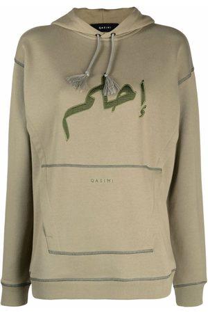 QASIMI Women Hoodies - Embroidered-logo drawstring hoodie