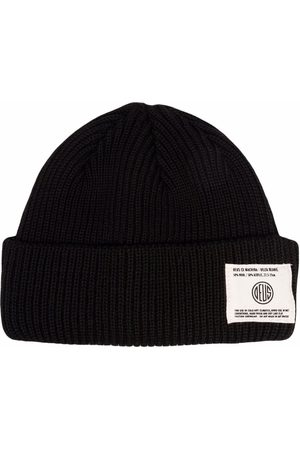 Deus Ex Machina Logo-patch ribbed knit beanie