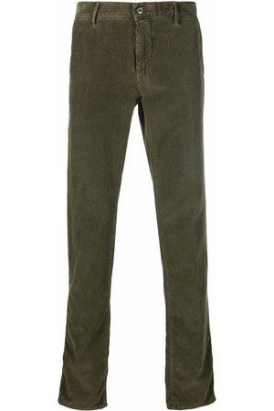 Incotex Straight-leg textured-corduroy trousers