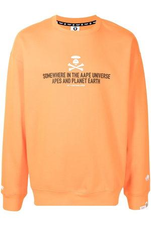 AAPE BY A BATHING APE Men Sweatshirts - Slogan-print cotton sweatshirt