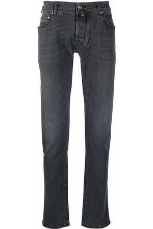 Jacob Cohen Men Slim - Handkerchief-detail slim-fit jeans - Grey