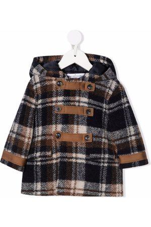 COLORICHIARI Duffle Coat - Check print duffle coat