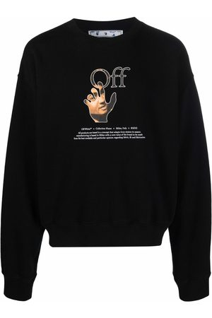 OFF-WHITE Men Long sleeves - Logo-print long-sleeve sweatshirt