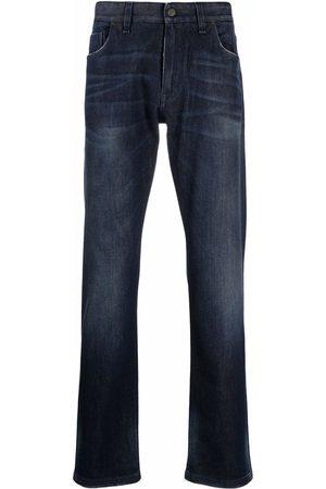Fendi Men Straight - Logo-embroidered straight-leg jeans