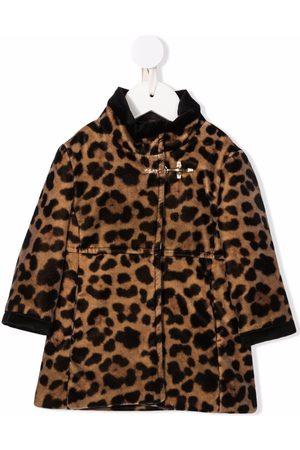 FAY KIDS Coats - Leopard-print faux-fur coat - Neutrals