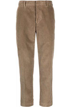 PT01 Men Straight Leg Pants - Corduroy straight-leg trousers