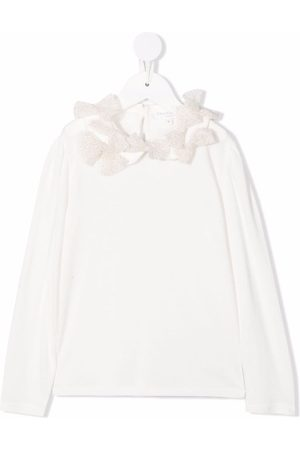 Charabia Girls Blouses - Bow detailing blouse