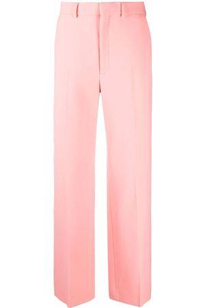 Casablanca Men Formal Pants - Straight-leg tailored merino trousers