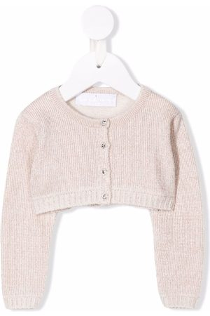COLORICHIARI Ribbed-knit cardigan - Neutrals