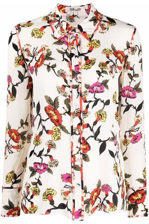 Diane von Furstenberg Women Shirts - Floral-print silk-blend shirt