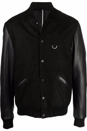 LOW BRAND Leather detail bomber jacket
