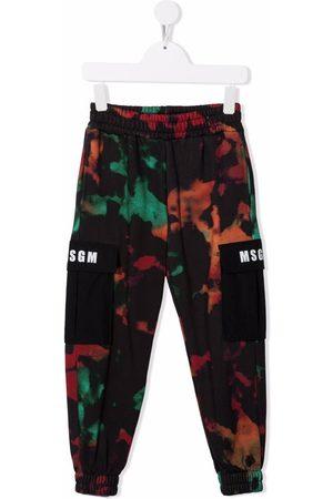 Msgm Boys Sweatpants - Tie dye print track pants