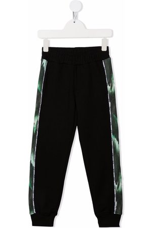 Msgm Boys Sweatpants - Side printed stripe track pants