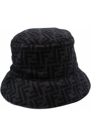 Fendi Men Hats - Monogram-print wool bucket hat
