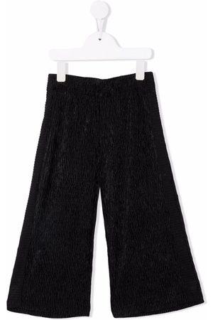 Caffe' D'orzo Girls Wide Leg Pants - Textured wide-leg trousers
