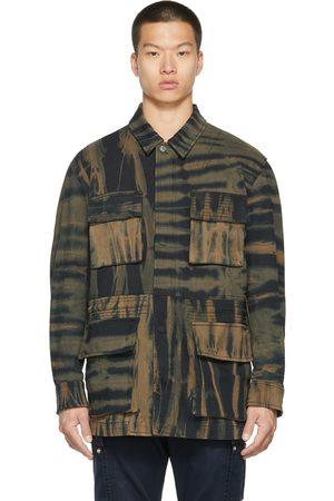 Diesel Men Denim Jackets - Black & Brown D-Novo-SP1 Jacket