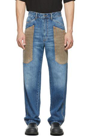 Diesel Men Straight - Blue & Brown D-Franky Carpenter Straight Jeans