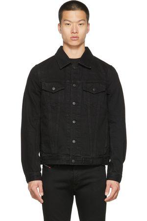 Diesel Men Denim Jackets - Black Denim Nhill-C1 Jacket