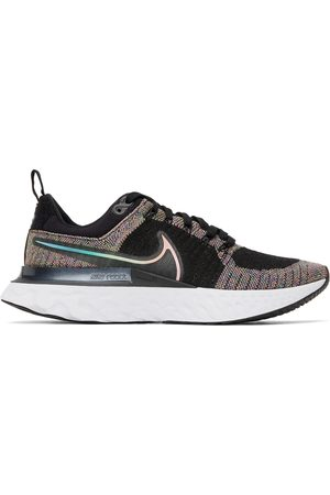Nike Men Sneakers - Black & Multicolor React Infinity Run FlyKnit 2 Sneakers