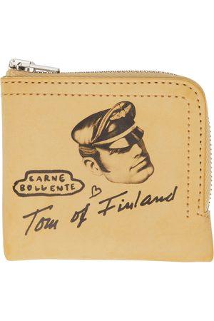 CARNE BOLLENTE Men Wallets - SSENSE Exclusive Beige Tom of Finland Edition Leather Wallet