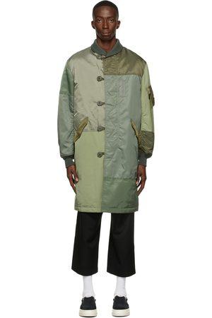 Comme des Garçons Men Coats - Nylon Twill Patchwork Coat