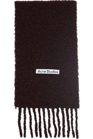 Acne Studios Men Scarves - Bouclé Large Logo Scarf